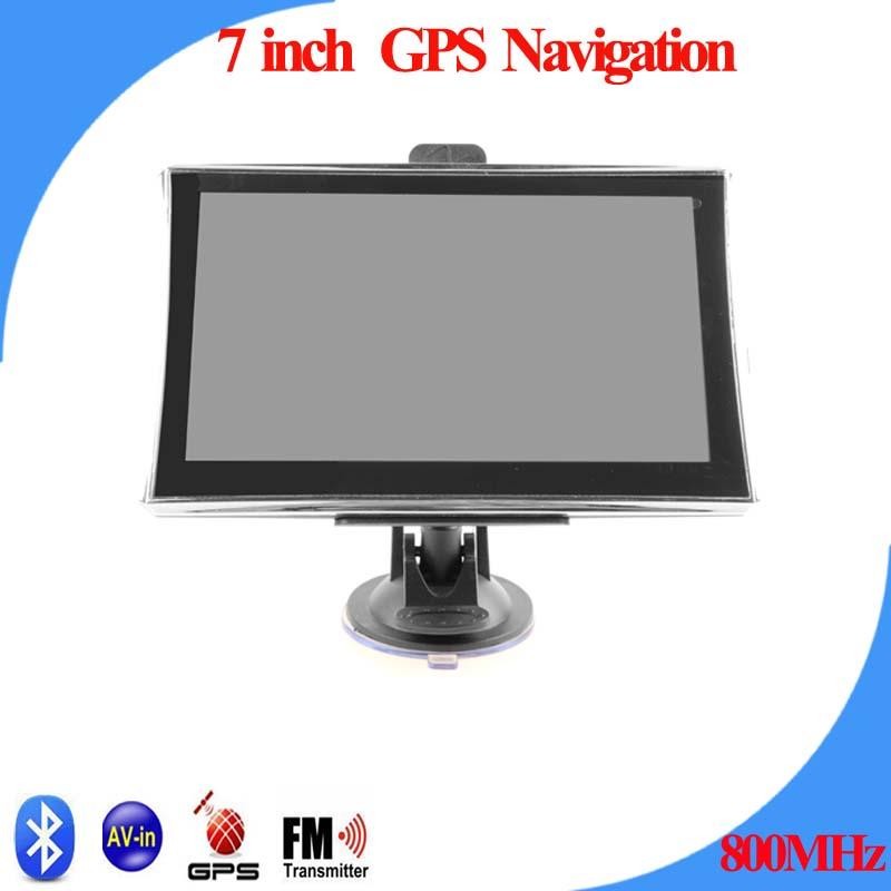 7 inch HD Car GPS navigation 800Mhz/WinCE 6.0/Bluetooth/AV-IN/128MB/4GB navigator 2015 Maps Russia/Ukraine/Belarus/Europe/USA(China (Mainland))