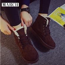 2016 la nieve del invierno patea los zapatos de corea mujer de invierno de algodón encaje Martin cargadores del frasco cortos(China (Mainland))