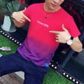 summer style 2016 fashion men t shirt beauty color t shirt homme cotton tops slim fit
