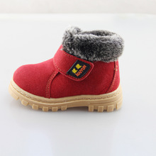 2015 NEW Winter kids thermal boots Children warm antiskid snow boots cow muscle bottom Kid cow