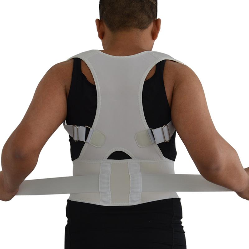 Women & Men Adjustable Posture Back Supporter Corrector Brace Shoulder Band Belt Back Support Belt Back Braces AFT-B002(China (Mainland))