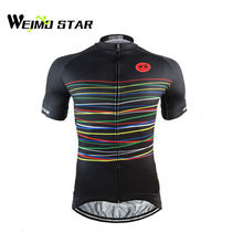 Buy WEIMOSTAR 2017 Men Team Pro Riding Cycling Jersey Bike Bicycle Short Sleeve Clothing Shirt Tops S-5XL for $14.45 in AliExpress store