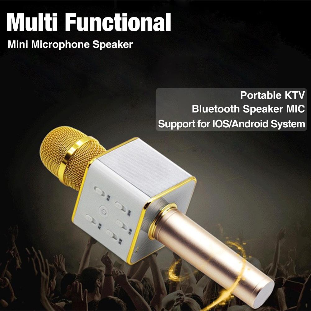 Q7 Magic Karaoke Microfone K Song Portable Wireless Bluetooth Microphone Bluetooth Speaker Power Bank Outdoor KTV Retail box(China (Mainland))
