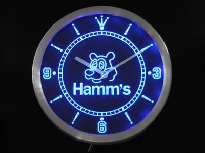 nc0129-b Hamm's Bear Beer Bar Neon Sign LED Wall Clock(China (Mainland))