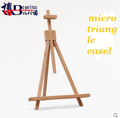 Free shipping micro triangle little easel Ju wood advertising display/desktop painting frame Placed on the desktop<br><br>Aliexpress