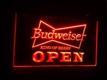 Buy b27 OPEN Budweiser Beer NR Pub Bar pub club 3d signs LED Neon Light Sign for $12.59 in AliExpress store