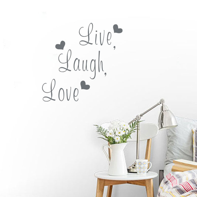 Free shipping: Live Laugh Love Quote Wall Stickers Home Decor Art Decal Sticker Decals Quote Saying Words Phrases(China (Mainland))