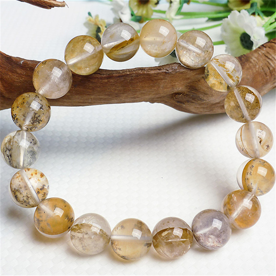 100% Genuine Natural Petrified Wood Stone Loose Round Fashion Jewelry Beads Stretch Charm Crystal Bracelet For Men Free Shipping<br><br>Aliexpress
