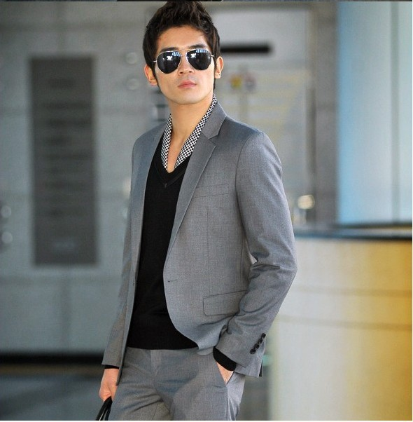 (Jacket+Pants) Men Formal Suit 2015 New Bridegroom Wedding Fashion Slim Fit Tuxedo Business Dress Suits Blazer VC1698