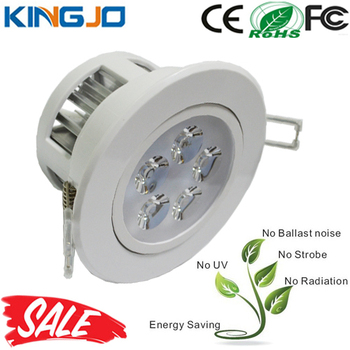 Milky Plastic Cover 5W Battery Operated Led Ceiling Light