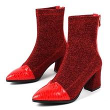 REAVE KAT Echt Leer Enkellaars Vrouwelijke Rits Patchwork Schoenen Vrouwen Schapenhuid Rijlaarzen voor Vrouwen Botas Feminina J314(China)