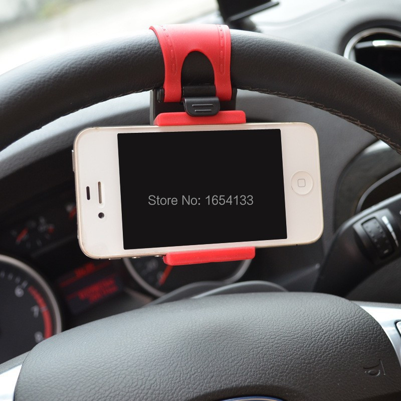 Car Steering Wheel Mount Holder Rubber Band For iPhone iPod MP4 GPS Accessories suporte para celular no carro voiture universal(China (Mainland))