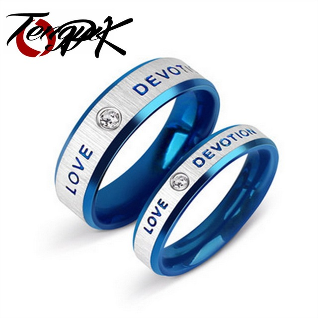 Hot New wholesale stainless steel lover couple Rings FOREVER LOVE with Magnetic health stone for men women,fashion Jewelry TY154