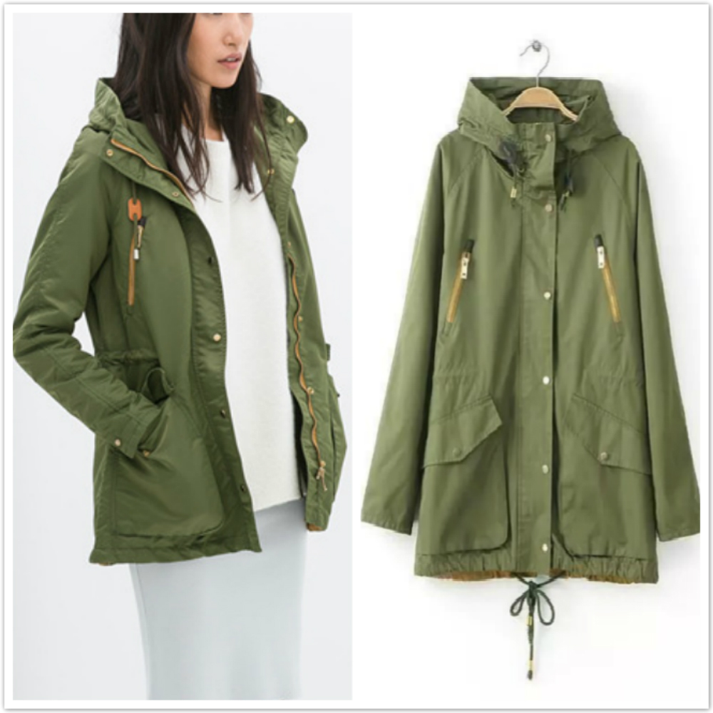 Images of Green Trench Coat - Reikian