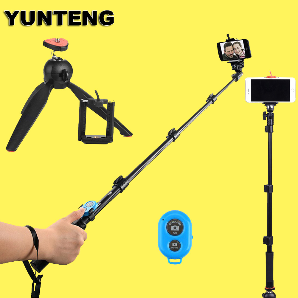 yunteng 188 handheld extendable tripod monopod 228 mini tripod for iso andriod mobile cell. Black Bedroom Furniture Sets. Home Design Ideas