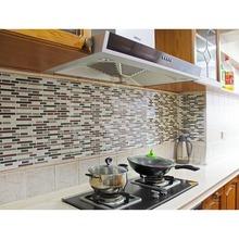 Fancy-fix Vinyl Peel and Stick Decorative Backsplash Kitchen Tile Sticker Decal-pack of 4 Sheets- TS004(China (Mainland))