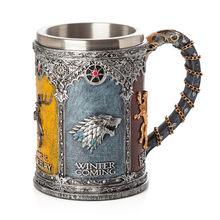 Game of Thrones Signets Boccale Tazze di Caffè In Acciaio Inox Resina Tazze e Tazzine Creativo Articoli e Attrezzature per Acqua, Caffè, Tè Mark(China)