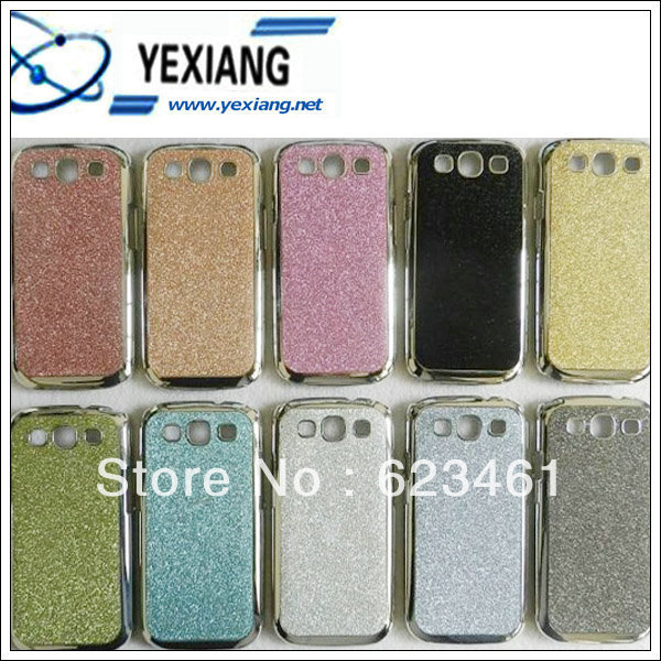 Luxury Bling Glitter Hard Back Case Cover for Samsung Galaxy S3 III S3 I9300 GOLd +hot sale