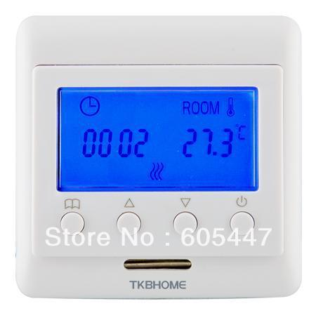 Free shipping TKB60.36 LCD Screen with external sensor floor heating thermostat 16a
