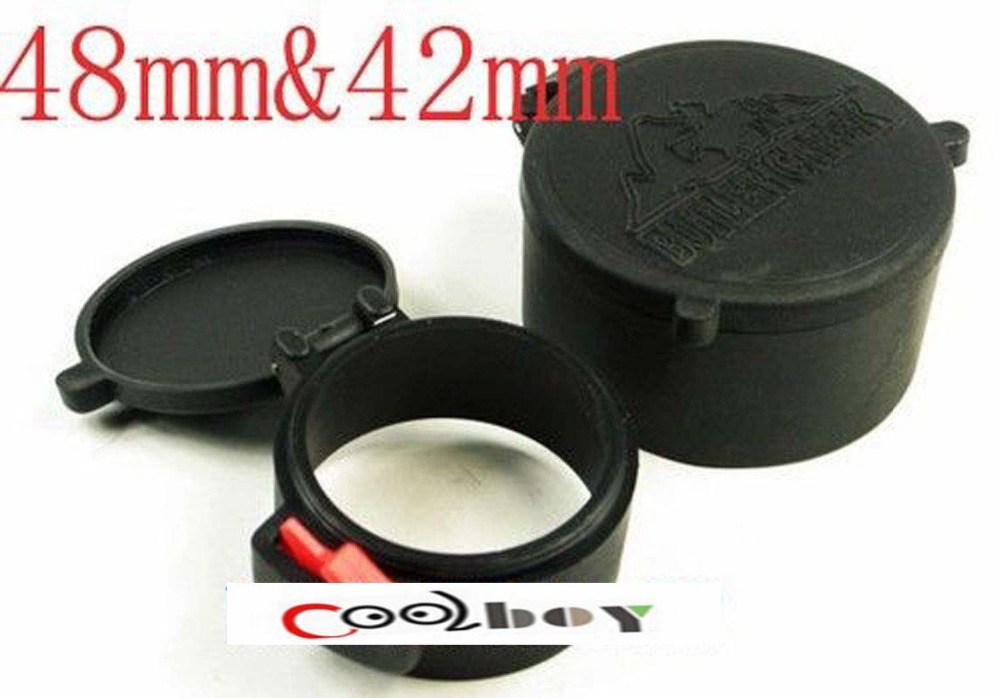 48mm&42mm Anti-Dust Lens Covers Cap Rubber Dustproof FLIP Open Lens Covers Protection for 40mm Rifle Scope Sight Hunting Acces(China (Mainland))