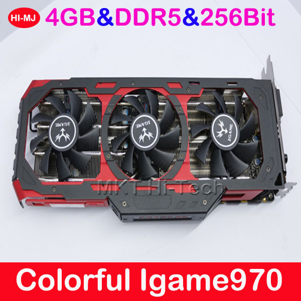 100% Original High-end For 3D Games GTA5 4GB DDR5 256Bit Colorful Igame970 GTX970 Placa De Video Graphics Card Video Card Nvidia(China (Mainland))