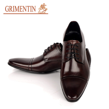 2015 hot designer men leather shoes round toe lace-up pure leather italian office dress european mens shoes size 6-10.5 ox38