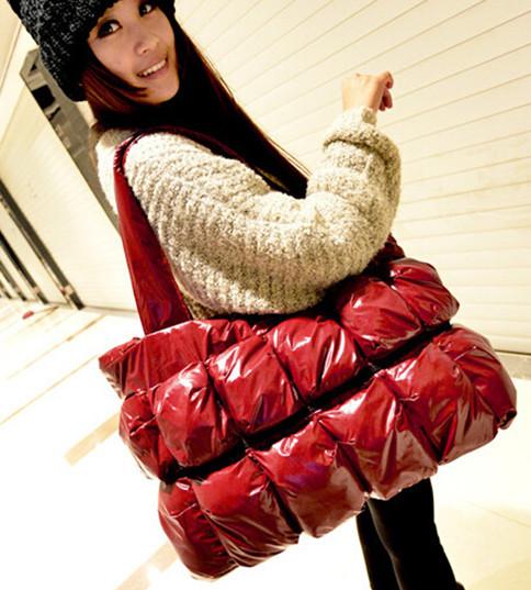 2015 winter Fashion Tote Ladies Shoulder Bag Large Capacity Shopper Bags Winter Casual Handbag Cotton Women Black Bag(China (Mainland))
