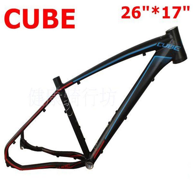 2015 CUBE REACTION 26*17 Carbon Fiber Mountain Bike Frame 7005 Ultralight 26-Inch MTB Matte Black Blue Internal Cable Routing<br><br>Aliexpress