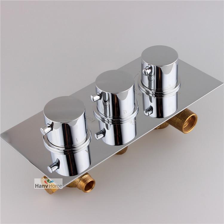 3 FunctionBrass Thermostatic Mixing Valve, Adjust the Mixing Water Temperature Thermostatic mixer for Shower Set(China (Mainland))