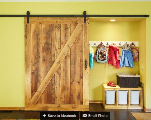 10ft grande grange coulissante rail de porte rustique de for Porte de grange coulissante en bois