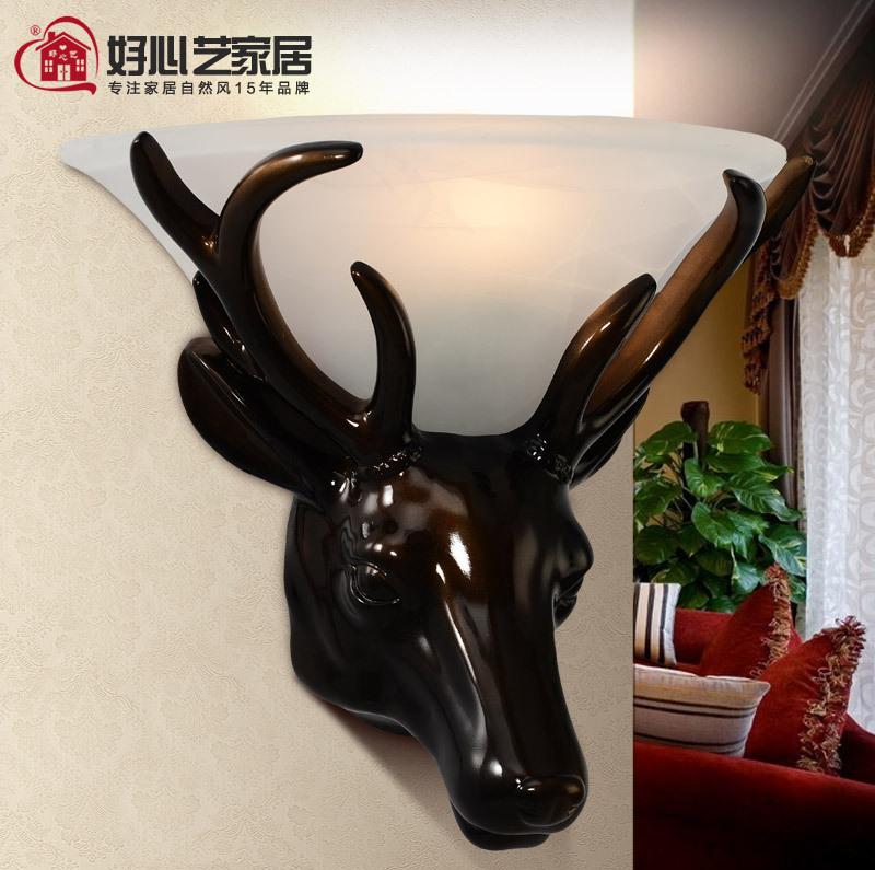 Kindly Arts deer wall lamp modern minimalist fashion creative living room bedroom wall lamp wall lamp hotel engineering lamp(China (Mainland))