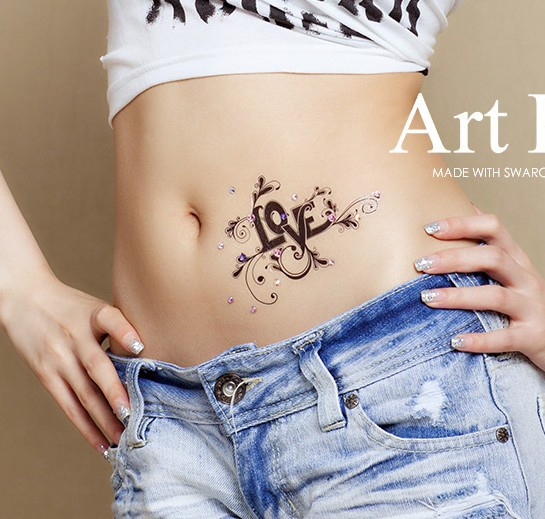 Love luxury tattoos Skin jewelry for wedding arm Shoulder Lower Back Waterproof tattoos sticker sexy women party(China (Mainland))