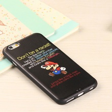 2016 For ip 5s 6 6splus cartoon pattern phone case protective soft shell Silicone cartoon cellphone cover skull