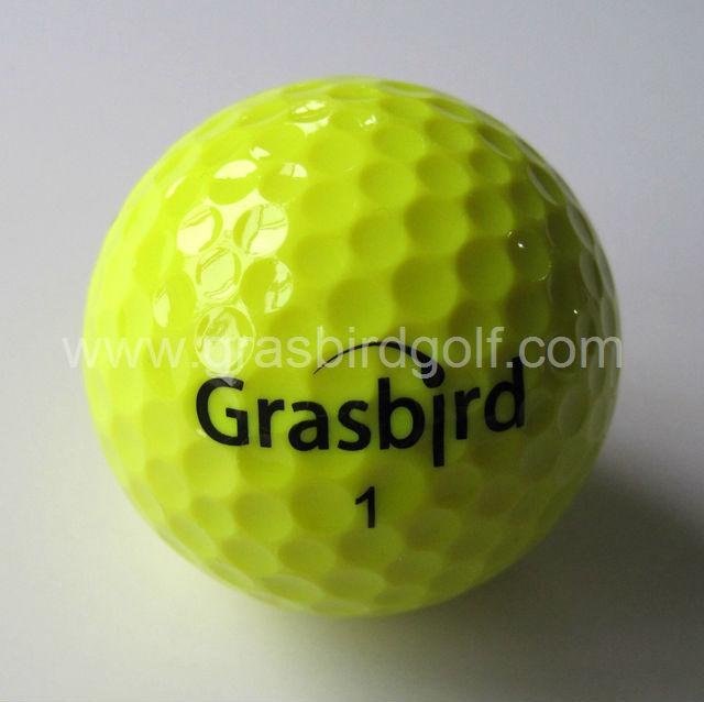 OEM color golf ball 2 piece tour ball top quality GRASBIRD golfe ball 1 dozen customize logo(China (Mainland))