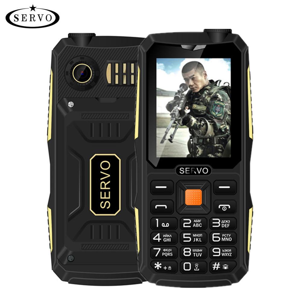 Quad Sim Original SERVO V3 mobile phone Dustproof Shockproof 2.4'' Phone 4 SIM cards 4 standby GPRS Russian Language keyboard(China (Mainland))