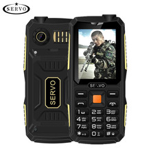 Quad Sim Original SERVO V3 mobile phone Dustproof Shockproof 2.4» Phone 4 SIM cards 4 standby GPRS Russian Language keyboard