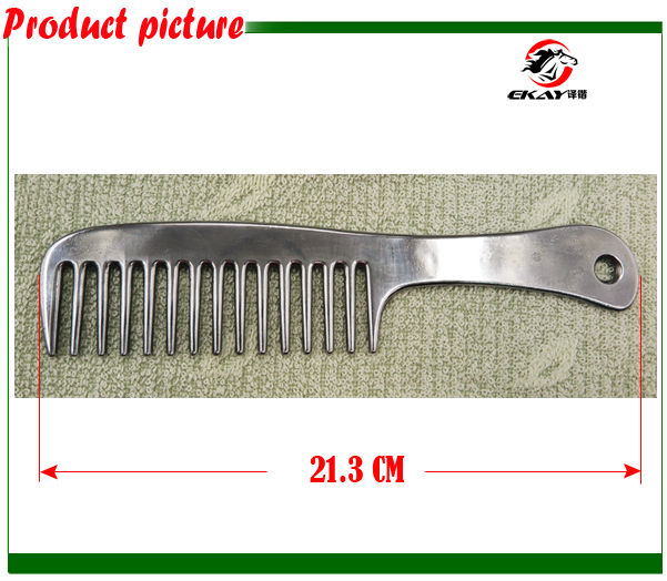 Free shipping Aluminum horse comb,pet's comb ,hand polished,metal comb,horse care product.(CB9051)(China (Mainland))