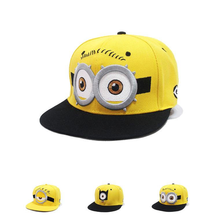2016 Lovely Minions hip hop hat Gorras hats sport kids baseball caps Parent Children women men casquette canvas snapback cap(China (Mainland))