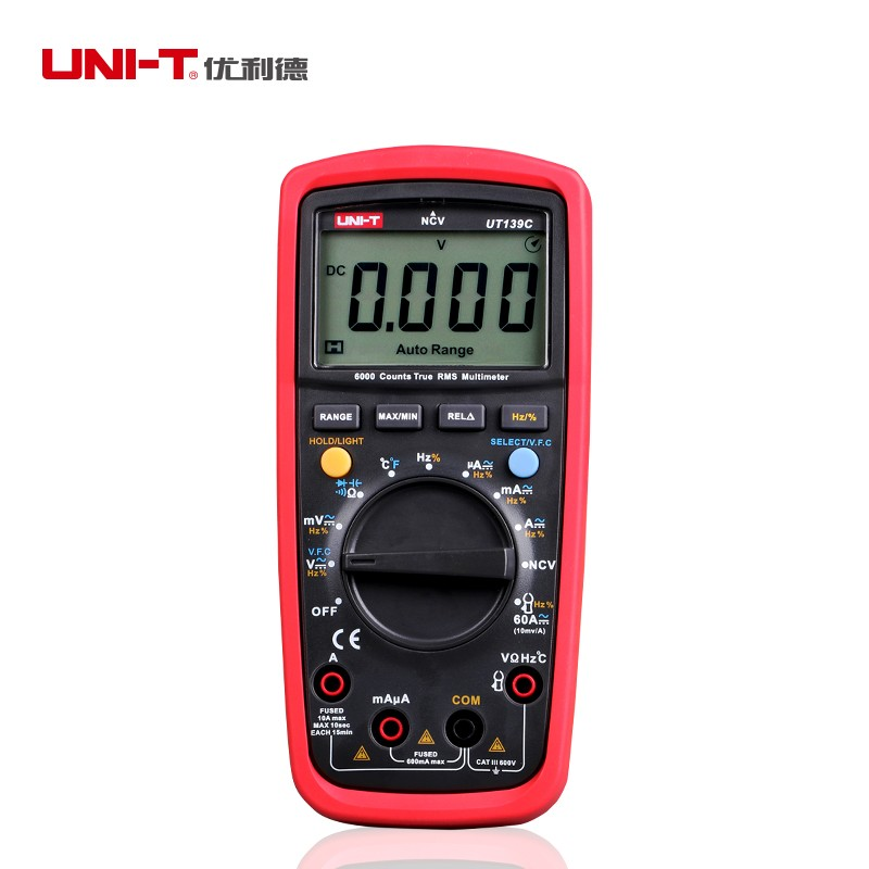 Купить Жк-дисплей UNI-T UT139C правда RMS электрические цифровые мультиметры LCR метр ручной тестер Multimetro амперметр