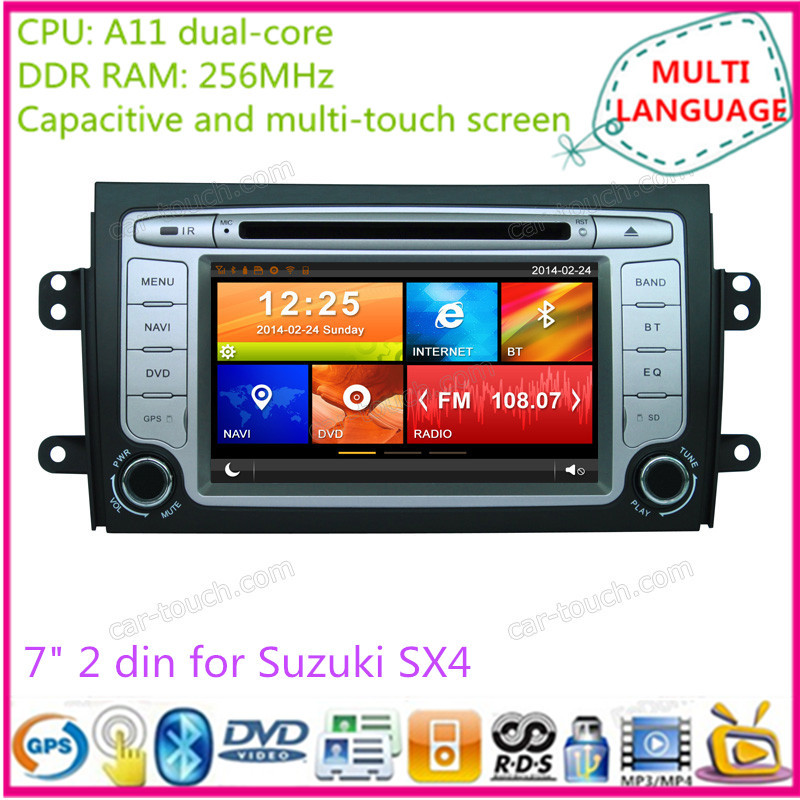 7 inch touch screen 2 din car dvd gps multimedia player automotive navigation system radio Suzuki SX4 - Cartouch Entertainment store