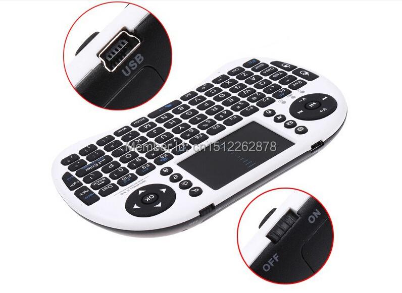 Original Hebrew/Russian/English Fly Air Mouse M8 MXQ TV BOX keyboard Case Black White 2.4G Wireless MINI PC Tablet Copmputer(China (Mainland))