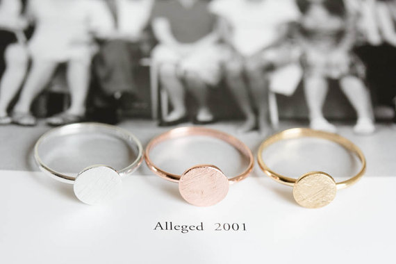 Wholesale 10pcs/lot Fine Jewelry Gold/Silver/Rose Gold Dainty Simple Full Moon/Round Stacking Ring(China (Mainland))
