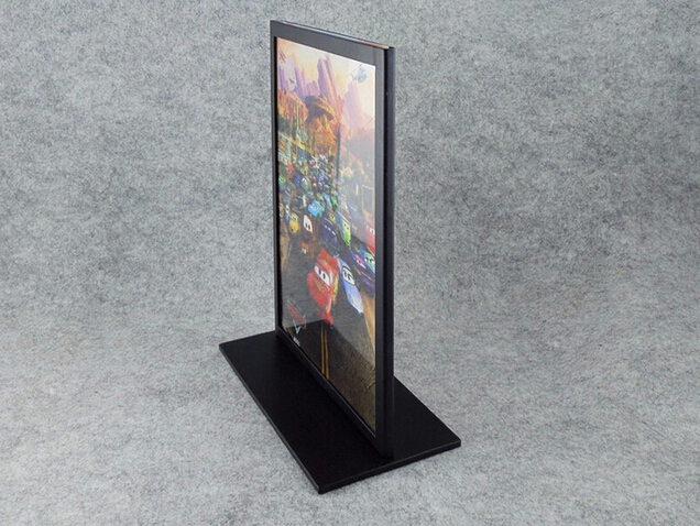 Black Metal A4 Double-sided Table Advertising Display Stand Poster Stand KT Board Sign Holder Menu Display Stand(China (Mainland))