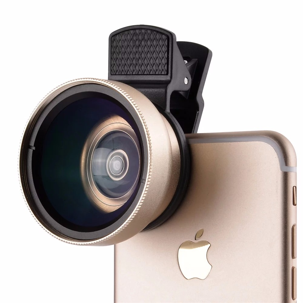 0.45X Super Wide Angle Macro Lens Mobile Phone Camera Lens 37mm Digital Definition Optical Lenses For iPhone 5S 6 7 Plus Samsung