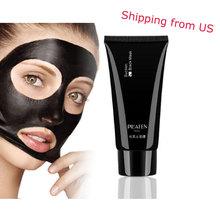 1 pz pilaten cura della pelle del viso aspirazione nero maschera maschera facciale mascherina del naso di rimozione di comedone peeling peel off testa nera dropshipping(China (Mainland))