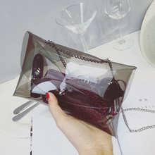 Summer Fashion Women handbags Transparent Envelope bags Clutch Clear Color Bag Handbag For Women 6colors