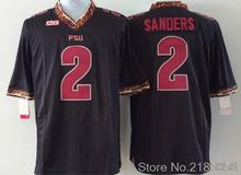 2 Deion Sanders 2013 Throwback College Jersey Rose Bowl Game black Red White Jersey(China (Mainland))
