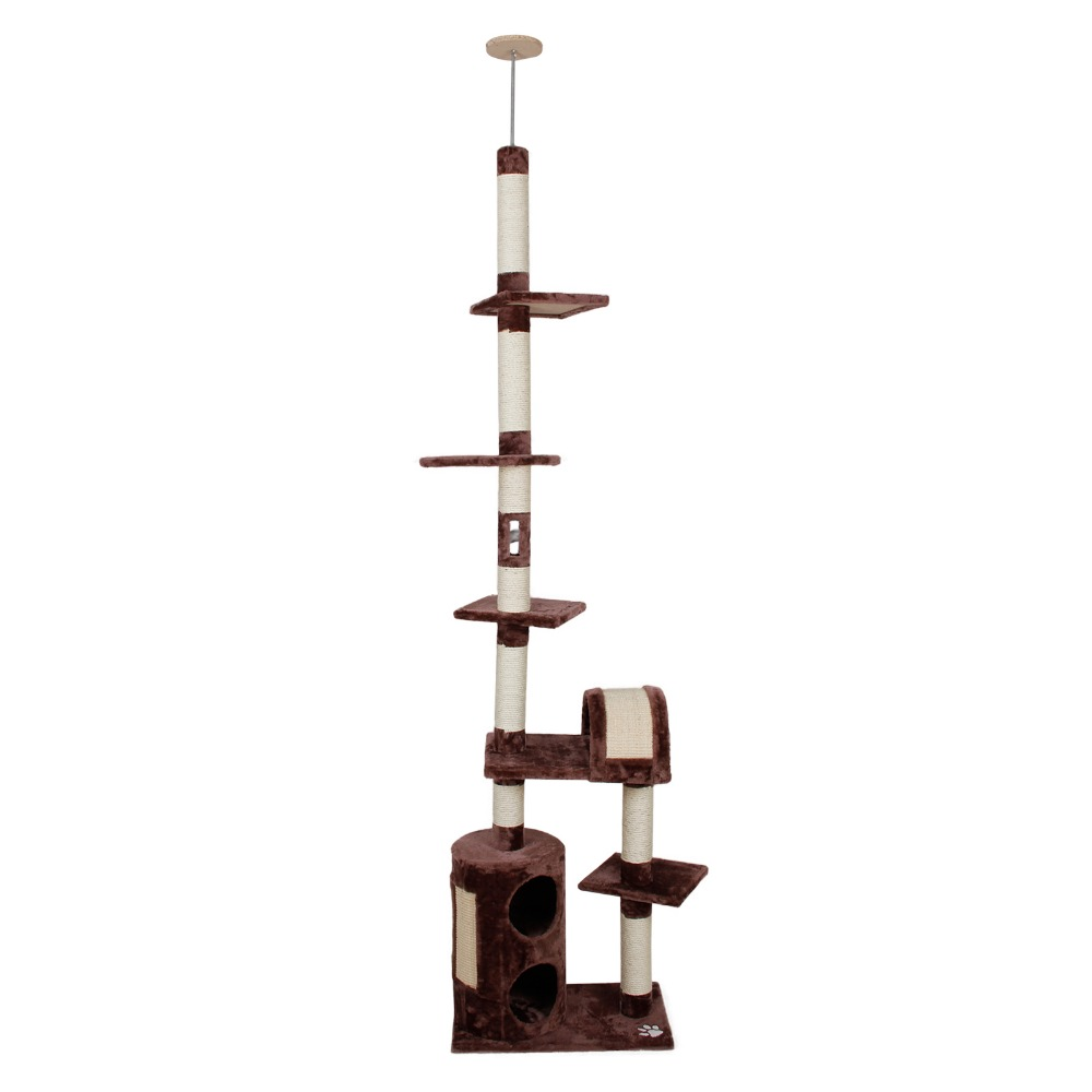 Domestic Delivery Cat Toy Cat Scratcher Tree Climbing Furniture Two Holes Product Cat Jumping Kitten Pet Product Wholesale(China (Mainland))