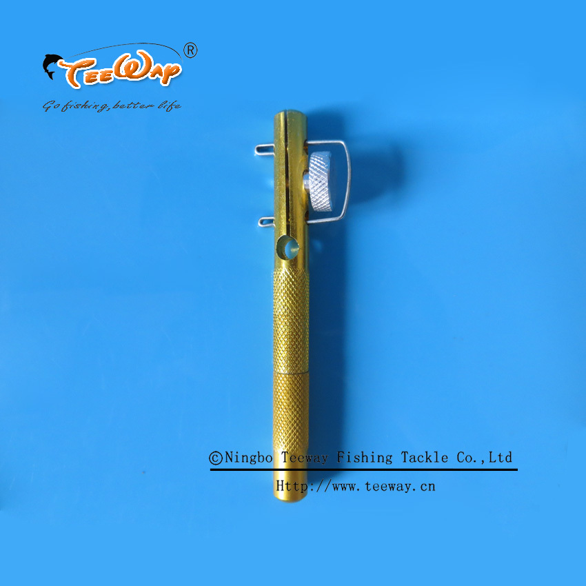 Free shipping High quality Aluminum alloy fishing line knotter Fishhooks Tie Device sub-line tier small hooks fishing tool(China (Mainland))