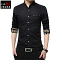 VISADA JAUNA Men s Shirt 2016 New Arrivals Fashion Men Shirts Casual Long Sleeve Solid Cotton